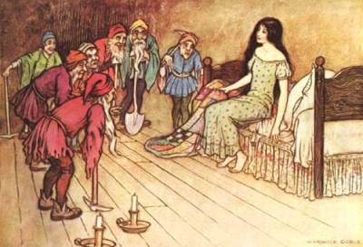 Warwick Goble's 1913 illustration of Snow White.